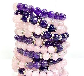 Amethyst With Rose Quartz Bracelet