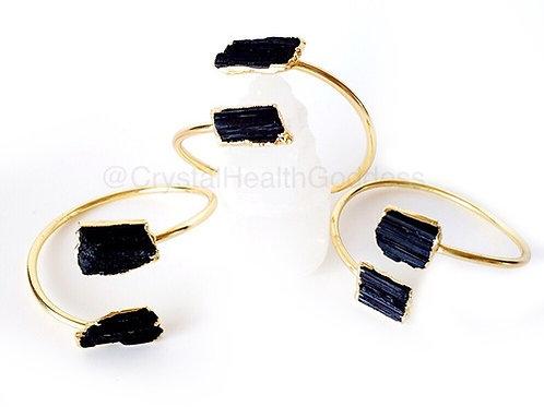 Black Tourmaline Cuff Bracelet