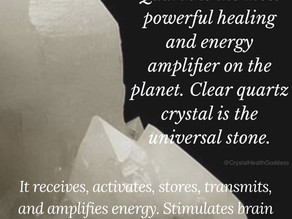 Clear Quartz Crystal is a Master Healer.