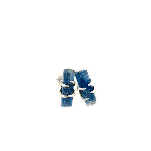 Blue Kyanite Earrings 925 Sterling Silver