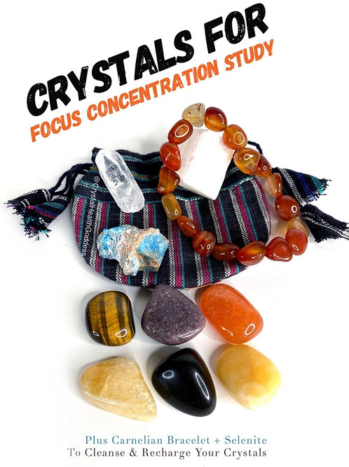 Crystals For Focus Concentration Study