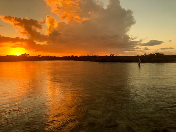 Sunset tailers - Bonefish Camp