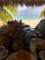 Flat side breakfast - Little Corn Camp