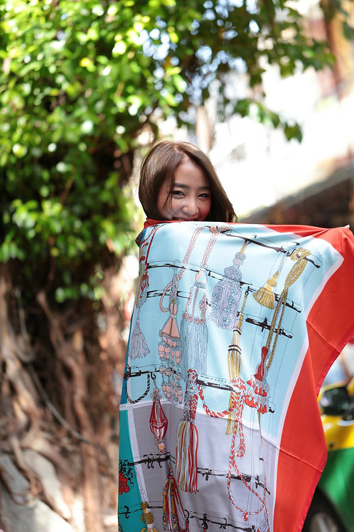 Polyester scarf - Street collection 6