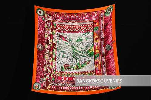 Valley of the two (Red) - Thailand scarf for wholesale