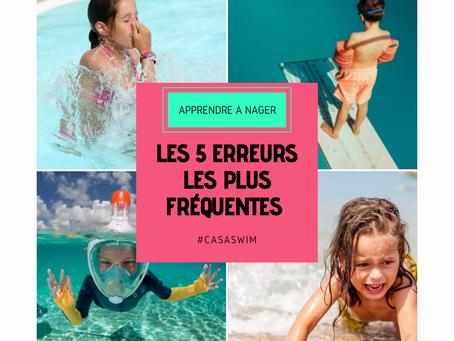 5 erreurs que font les parents lorsqu'ils veulent apprendre à nager à leurs enfants