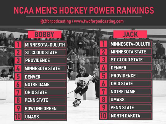 Week of November 5 NCAA Power Rankings