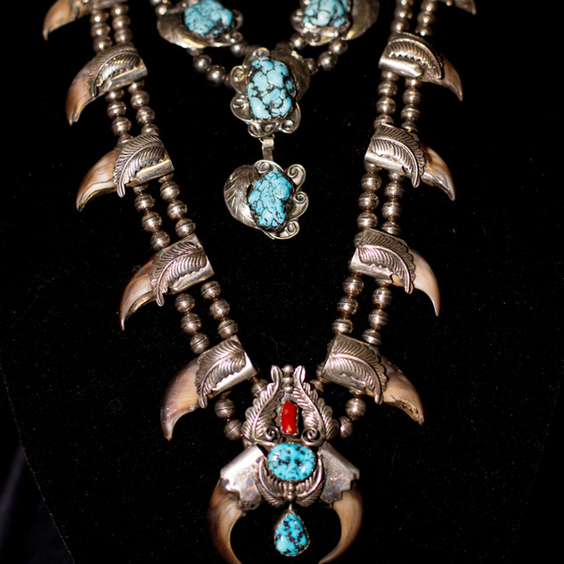 Turquoise Necklace & Cougar Claw Necklace