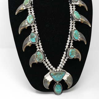 Turquoise & Polar Bear Claw Necklace