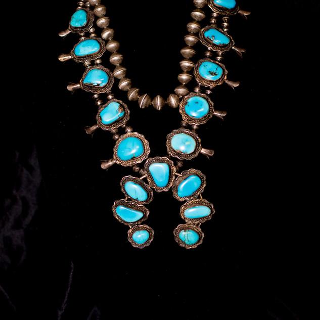 Navajo Pearls & Vintage Squash Blossom