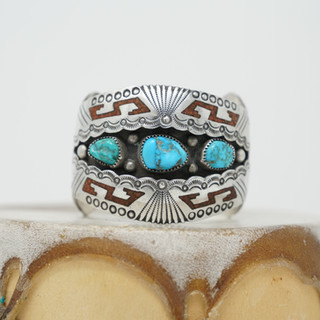 Shadow Box Turquoise Cuff