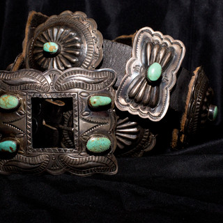 Vintage 1930s Concho Belt