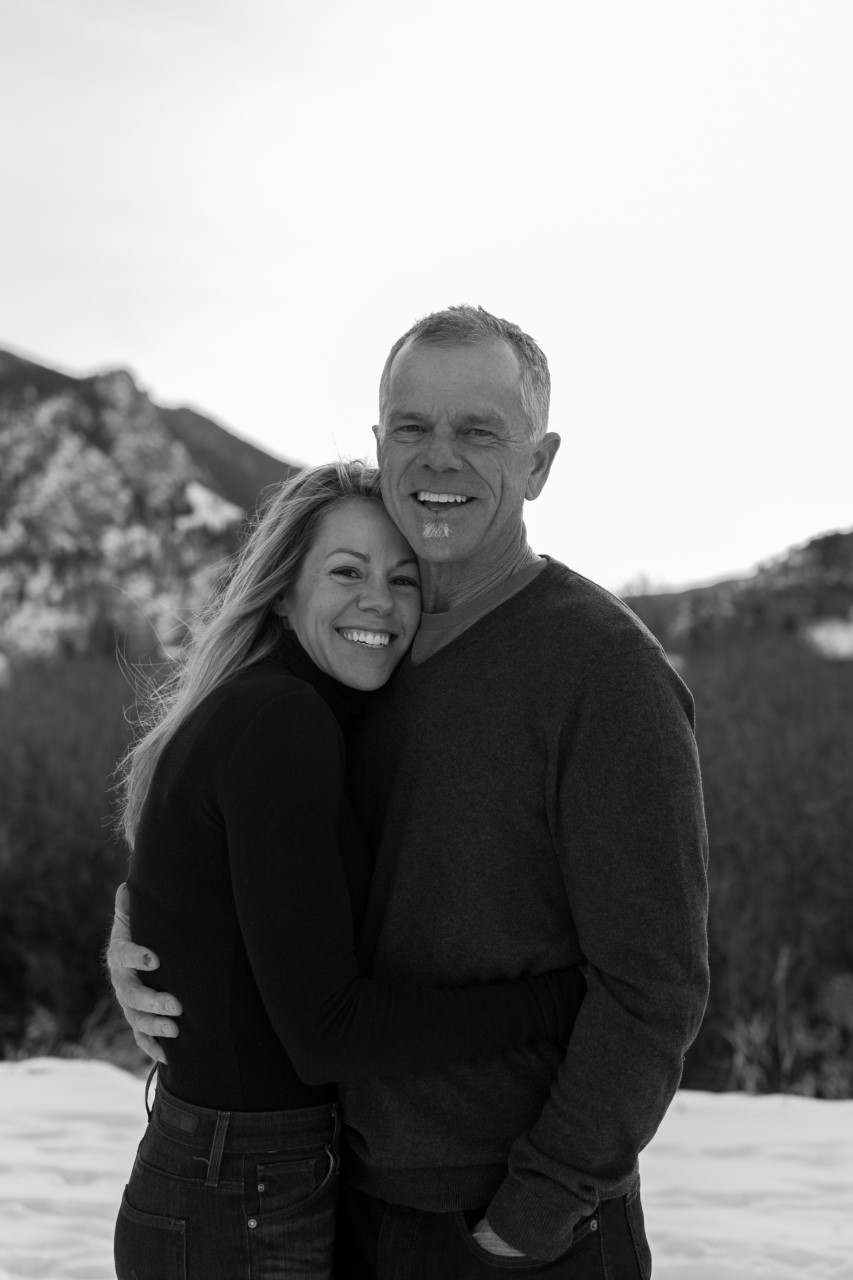 Andrea and her husband Dan, now live in the mountains of Colorado. Photo by Lindsey Sevec Photography
