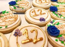 Custom birthday sugar cookies created by Platinum Cake Designs in Decatur, GA for a birthday girl's 12th birthday. #makingmemoriessweeter #platinumcakedesigns #customcookies #sugarcookies #decatur #atlanta #12thbirthday #sugarflower #birthday