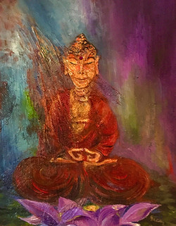 Buddha on Lotus by Greer Jonas