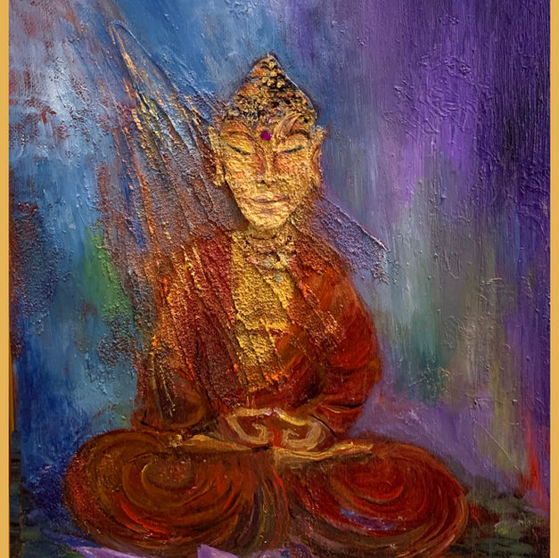 """Seated Buddha"" Sale $300"