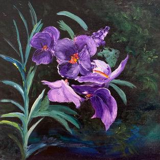"""Flowers at Midnight"" Sales Price $250"
