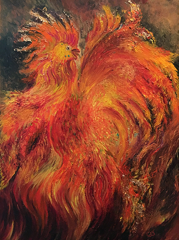 Dancing Fire Rooster