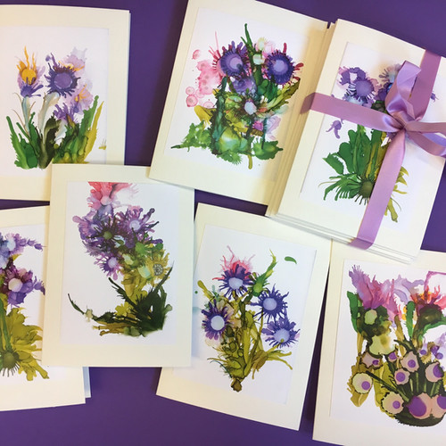 Cirart cards fine art greeting cards about my cards purple flowers m4hsunfo