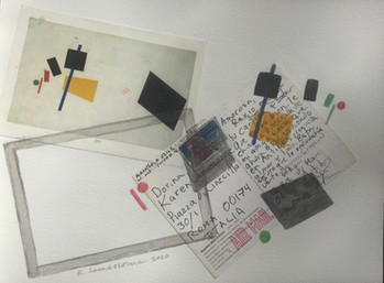 MALEVICH  1992:2020 - 23 x 31 cm - mixed