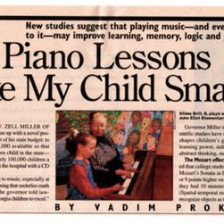 Will Piano Lessons Make My Child Smarter?