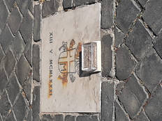Mattone sul luogo dell'attentato a San Giovanni Paolo II