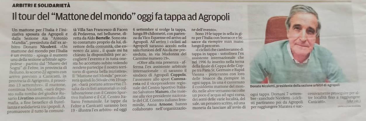 """""""La Città"""" quotidiano di Salerno."""