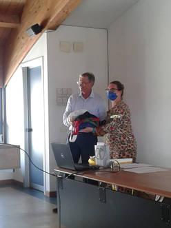 Consegna delle bisacce al Luigi Gavioli del CSI di Venezia