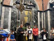 padre Gaetano con Concetta Grosso presidente del CIF provinciale di Cosenza e Antonella Viceconti presidente del CIF di Potenza.