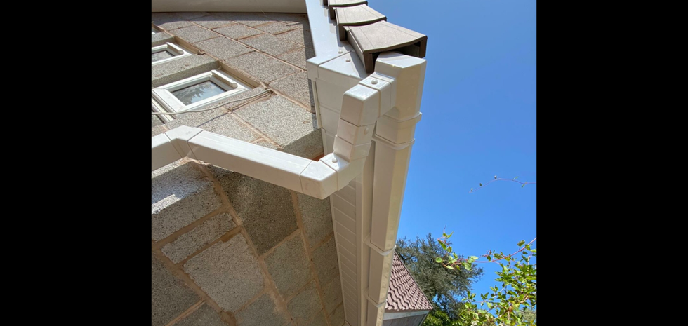 Nice photo of the side of the property, we fitted Tongue and groove soffits here instead of plain.