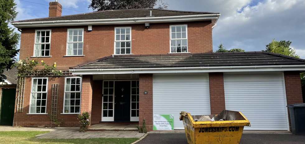 Installed new white Fascias, New soffits, new guttering and down pipes