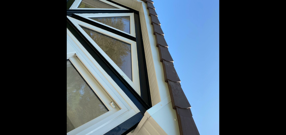 Closer picture of the Tongue and groove soffit fitted along with fascias.