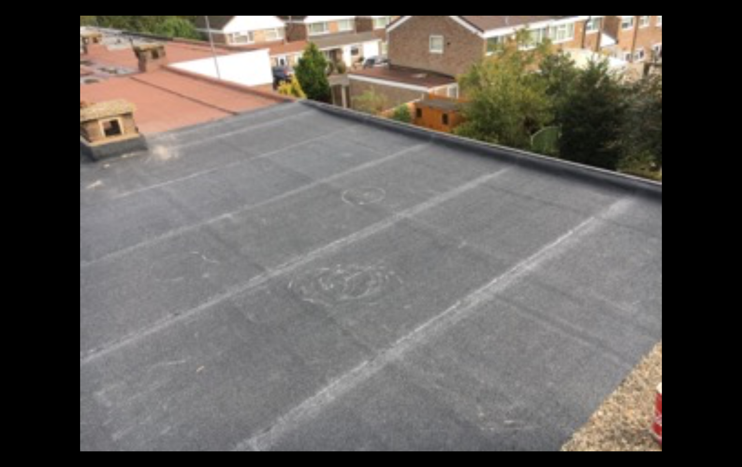 The next 4 pictures you will see the end result of our fitters hard work in installing a new felt roof.