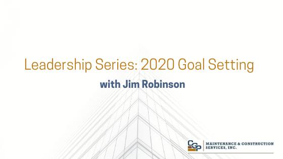 FM Leadership Series #2 - 2020 Goal Setting