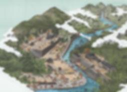 箕面山瀧安寺 境内案内図