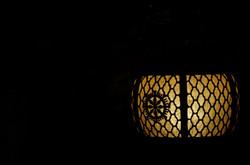 箕面山瀧安寺 灯り