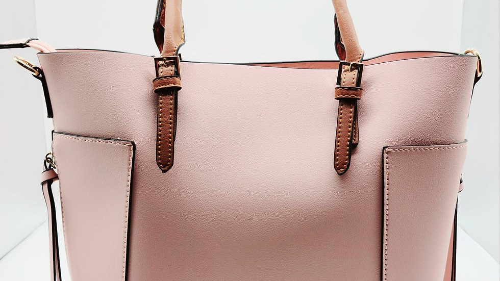 Blush Buckle Top Handle 3-in-1 Satchel
