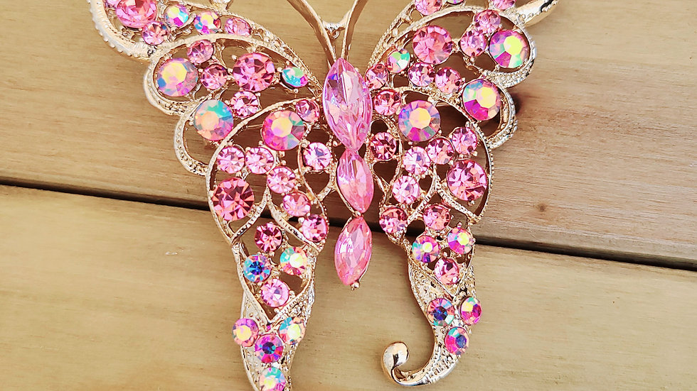 Pink Butterfly Pin