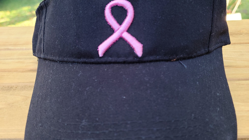 Breast Cancer Awareness Visor - Black