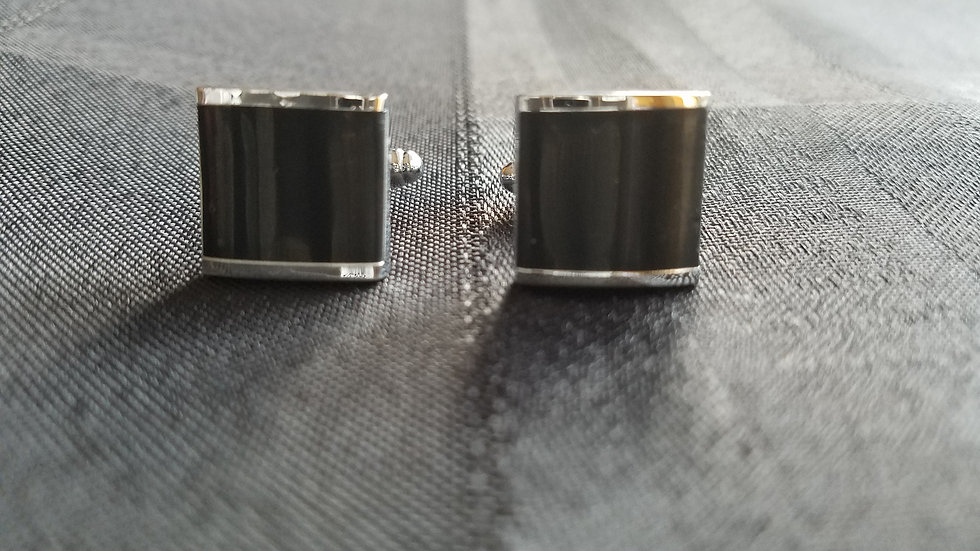 Black Cube Cuff Links