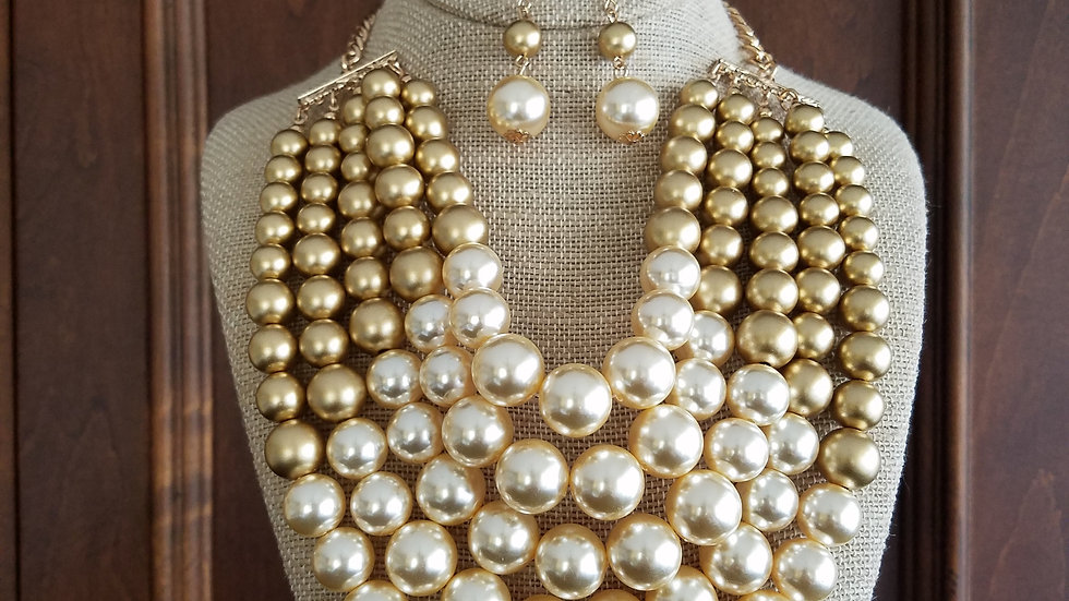 Gold & Ivory Pearls