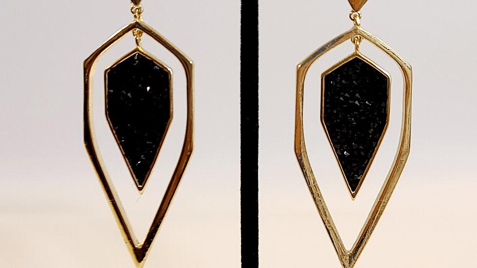 Black Tears Earrings