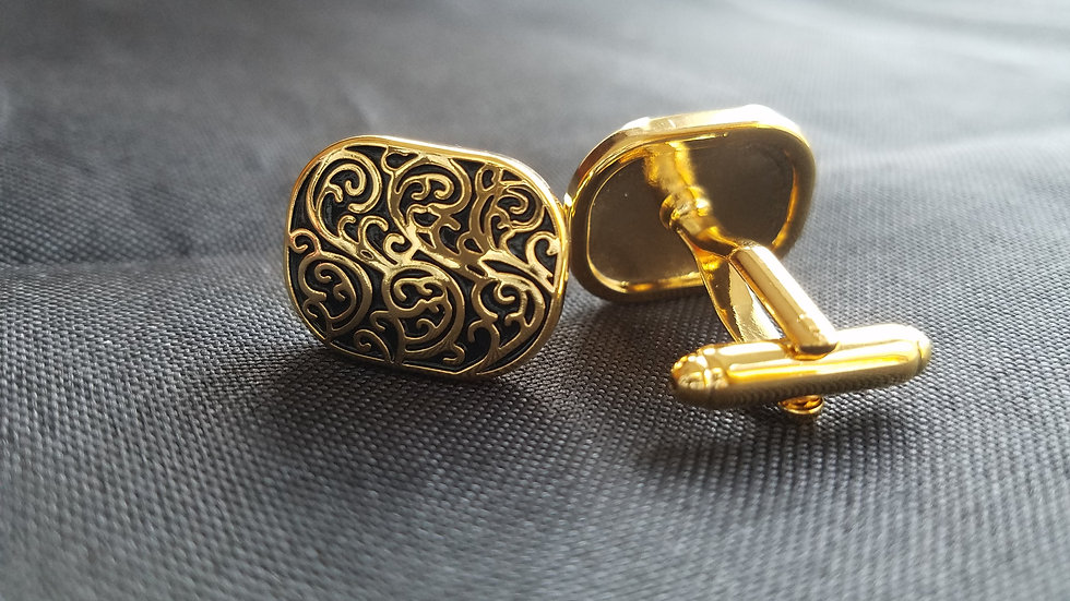 Black & Gold Cuff Links