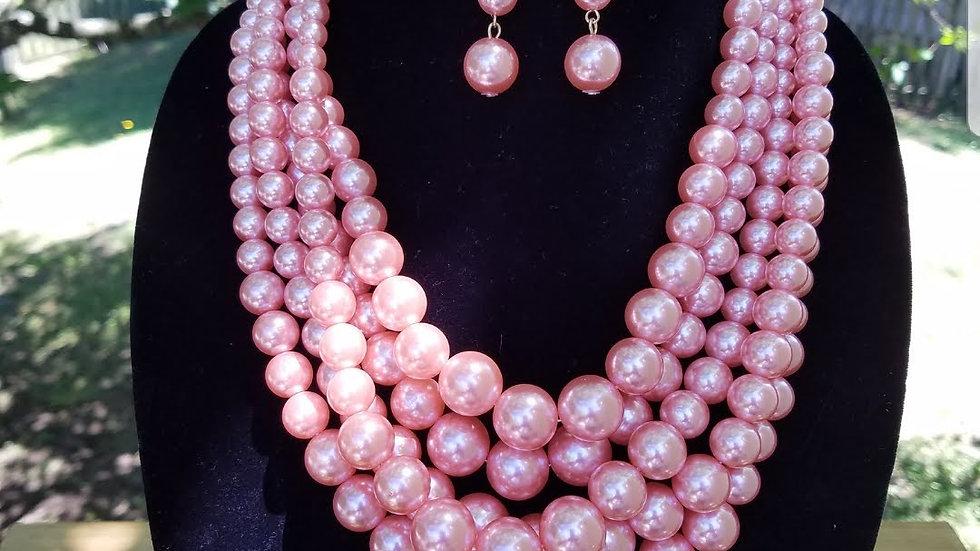 Multi 5 Strand Pearl Set
