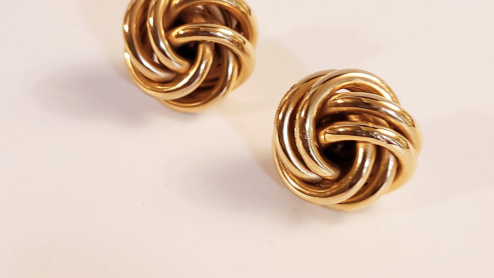 Large Gold Love Knots Earrings
