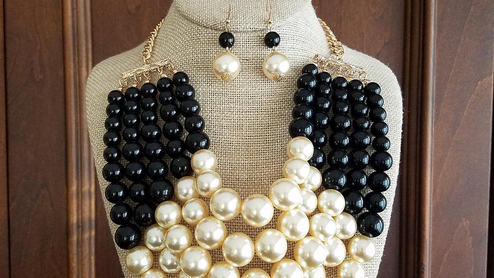 Black & Ivory Pearls