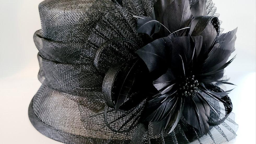 Black Summer Straw Hat