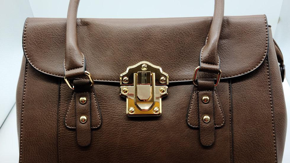 Designer inspired Coffee Handbag