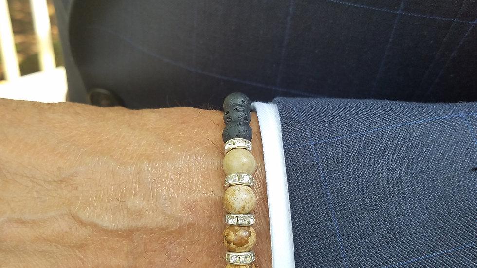 Unisex Cream Beaded Bracelet