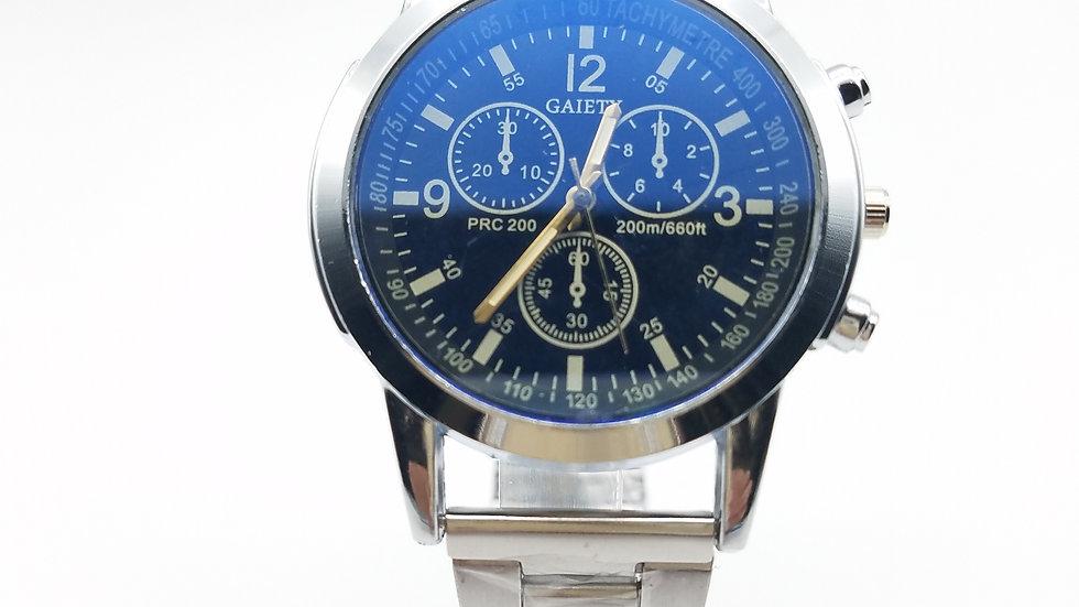 Blue Dial & Silver Men's Dress Watch